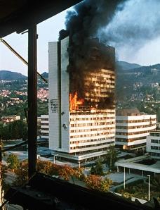 Sarajevo burns (Credit:  Mikhail Evstafiev)
