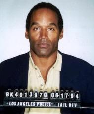 Simpson mug shot, 1994