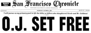 OJ set free_SFChron_front